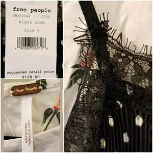 Free People Dresses - FREE PEOPLE Margot 2piece Lacy Overlay Dress SZ 8